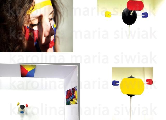 Karolina Maria Siwiak_Tam dokąd mnie głos Thanatosa zaprowadził_ Malarska Rzeźba Interaktywna_Działanie Performance przy użyciu farby
